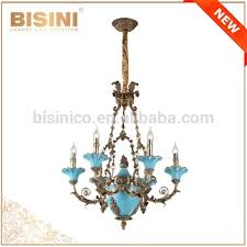 antique bronze pendant light french rococo style 6 lights porcelain chandelier with antique