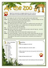 22 free esl at the zoo worksheets