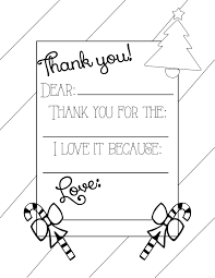 printable thank you cards for kids free coloring page template
