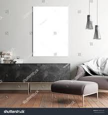 Scandinavian Style Armchair Mock Poster Hipster Interior Background Scandinavian Stock