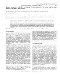 PDF Plants against Cancer A Review on Natural Phytochemicals in