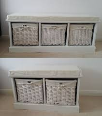 Wicker Storage Chest Of Drawers Cushioned Benches With Storage Cushions Decoration