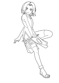 cartoon coloring naruto coloring pages sakura haruno naruto