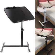 portable folding computer desk adjustable portable laptop table stand lap sofa bed tray folding