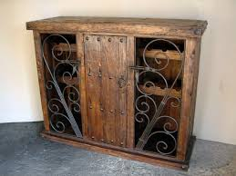 Kitchen Cabinet Door Locks Special Wine Barrel Mango Wood Liquor Cabinet Display Shelves Wine