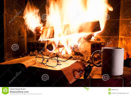 relaxing near the fireplace royalty free stock image image 36095476