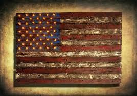 wall arts rustic wood american flag wall wooden american