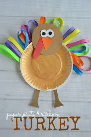 paper plate u0026 ribbon turkey kid craft blitsy