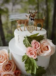 deer wedding cake topper woodland animal country mossy