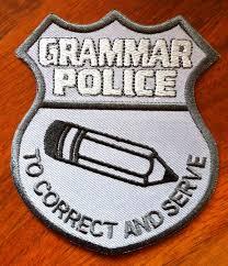 grammar police badge j l benet