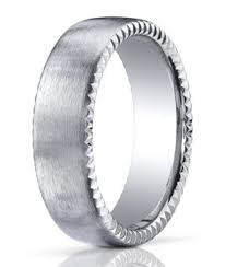 mens palladium wedding band palladium men s wedding ring rivet coin edging