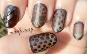 black nail designs matte black zebra nails things how to do