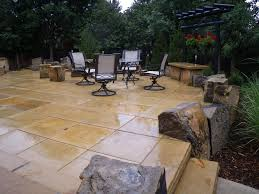 Patio And Walkway Designs by Boulder Low Maintenance Patio Alpine Landscaping