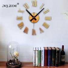 aliexpress com buy 3d stereo diy wall clock roman numerals