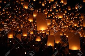 candle balloon thai traditional newyear balloon lantern at stock photo