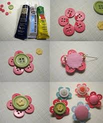 button flowers diy colorful button flowers fabdiy