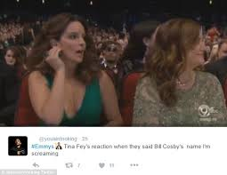 Jaw Drop Meme - tina fey s jaw drops when bill cosby is announced onstage at the