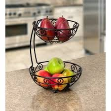 fruit basket stand 2 tier fruit basket stand wayfair