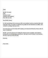 sample job acceptance letter job acceptance letter sample job