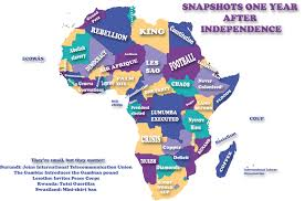 africa map by year snapshots from around africa one year after independence to