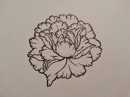 peony tattoo outline by themello on deviantart