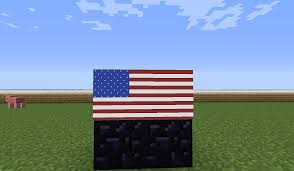 Minecraft Flag American Flag Made With 1 7 Maps In Item Frames Minecraft