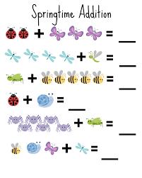 springtime addition worksheet for kindergarten from my blog