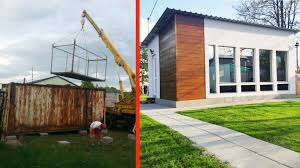 shipping container house build for container office youtube