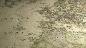 Vintage Map Pan Across To Turkey On A Vintage Map Free Stock Video Footage