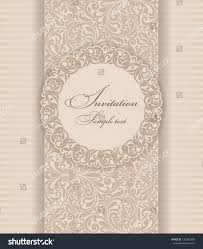 wedding invitation cards baroque style brown stock vector