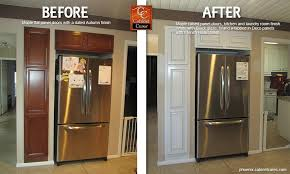 Cabinet Refacing Phoenix Magnificent 90 Kitchen Cabinet Refinishing Before And After