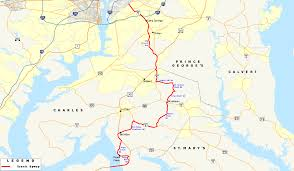 Scenic Route Map by List Of Maryland Scenic Byways Wikipedia