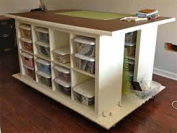 build a craft table craft tables with storage simple build craft table with storage and