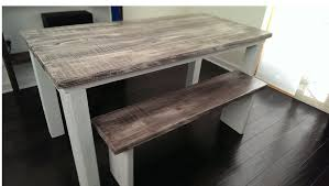 White Distressed Desk by Matter Boutique Repurposed And Painted Furniture Atlanta