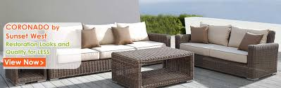 Used Patio Furniture San Diego by Outdoor Furniture Wicker Sofa Sectionals Patio Dining Tables