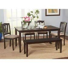 Dining Tables With Bench Seating Dining Table Bench Ebay