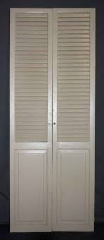 Louvered Closet Doors Pair Of Folding Closet Doors With Louvered Tops Olde Things