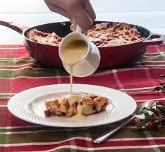 cranberry and orange clafoutis with nutmeg crème anglaise the