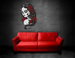 wall art decals skulls color the walls of your house wall art decals skulls home furniture diy home decor wall decals