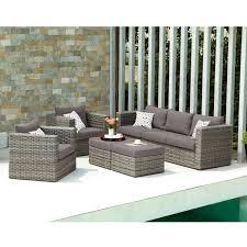 Wicker Look Patio Furniture - boston loft furnishings terra 5 piece outdoor deep seating set