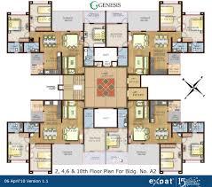 Tenement Floor Plan by Expat Properties I Ltd Genesis Alandi Pune Apartments For