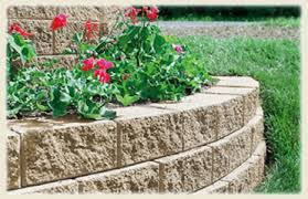 handy stone retaining wall system is great for small retianing