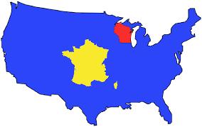 Map Size Comparison How Many Wisconsins Can Fit In A France U2013 The Philipendium U2013 Medium