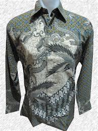 Baju Batik Batik baju batik batik lengan panjang motif bertaburan bunga bunga dengan