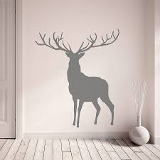 stag and deer vinyl wall stickers by oakdene designs