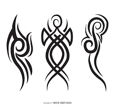 abstract tribal pinstripe set vector