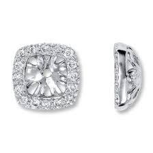 diamond earring jackets jared diamond earring jackets 1 4 ct tw cut 14k white gold