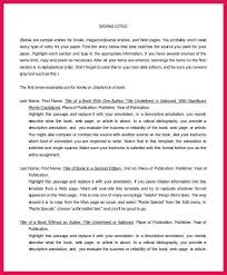 annotated bibliography format sop examples