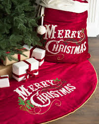 velvet christmas vintage merry christmas velvet tree skirt and santa bag balsam hill