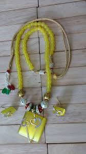 yellow necklace set images Rajasthani jewellery yellow monalisa necklace set online jpg